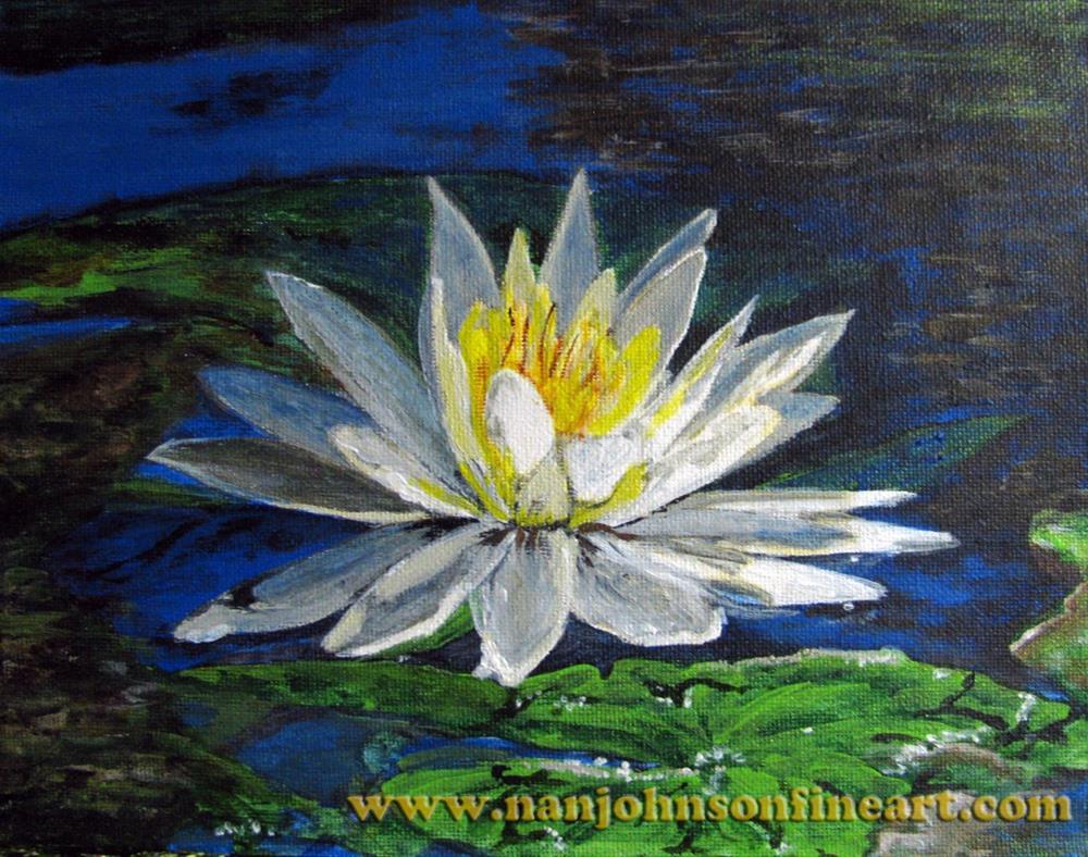 """""""Water Lily"""" original fine art by Nan Johnson"""