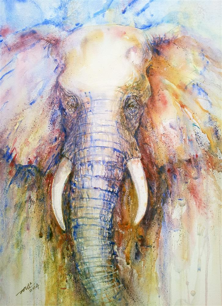 """Splendor the Elephant"" original fine art by Arti Chauhan"