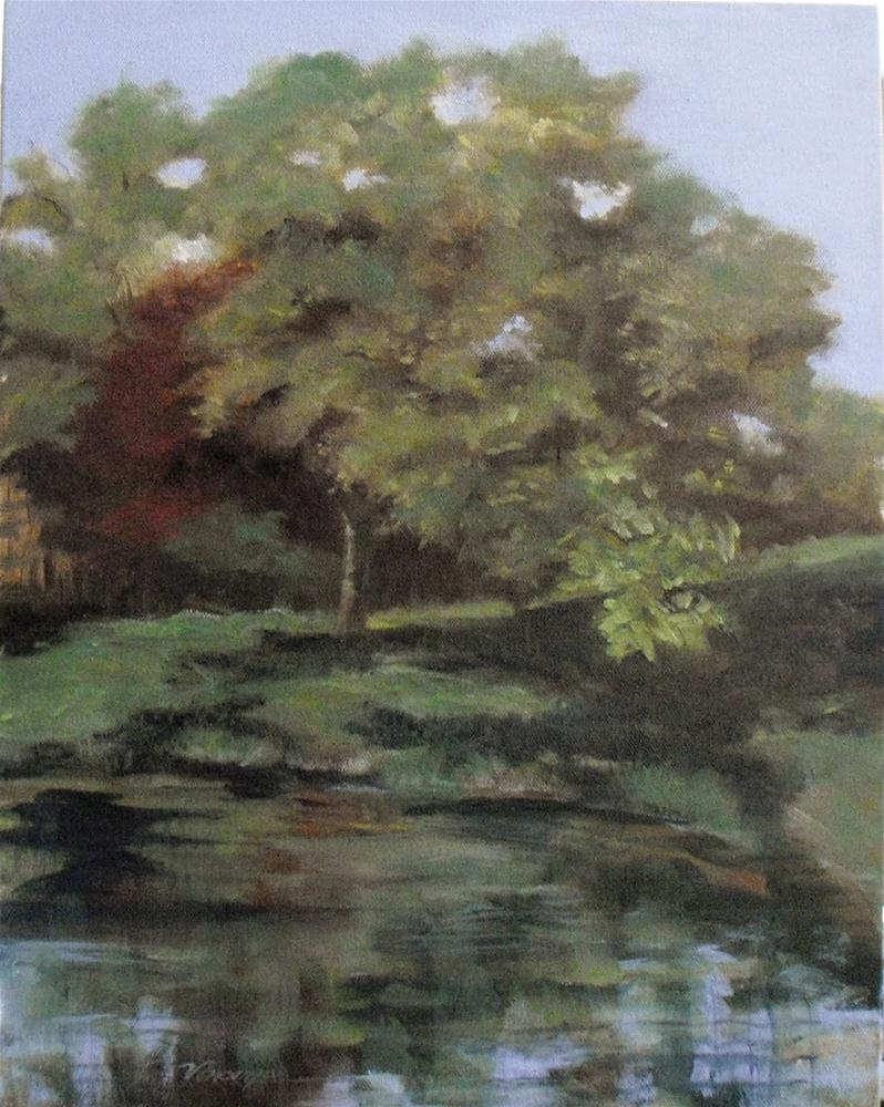 """Peaceful Rest ~14x18~ oil on canvas"" original fine art by Vincenza Harrity"