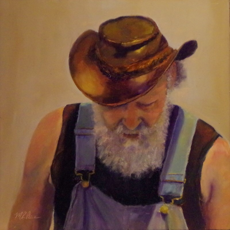 """A Fine Leather Hat"" original fine art by Marilyn R. Place"