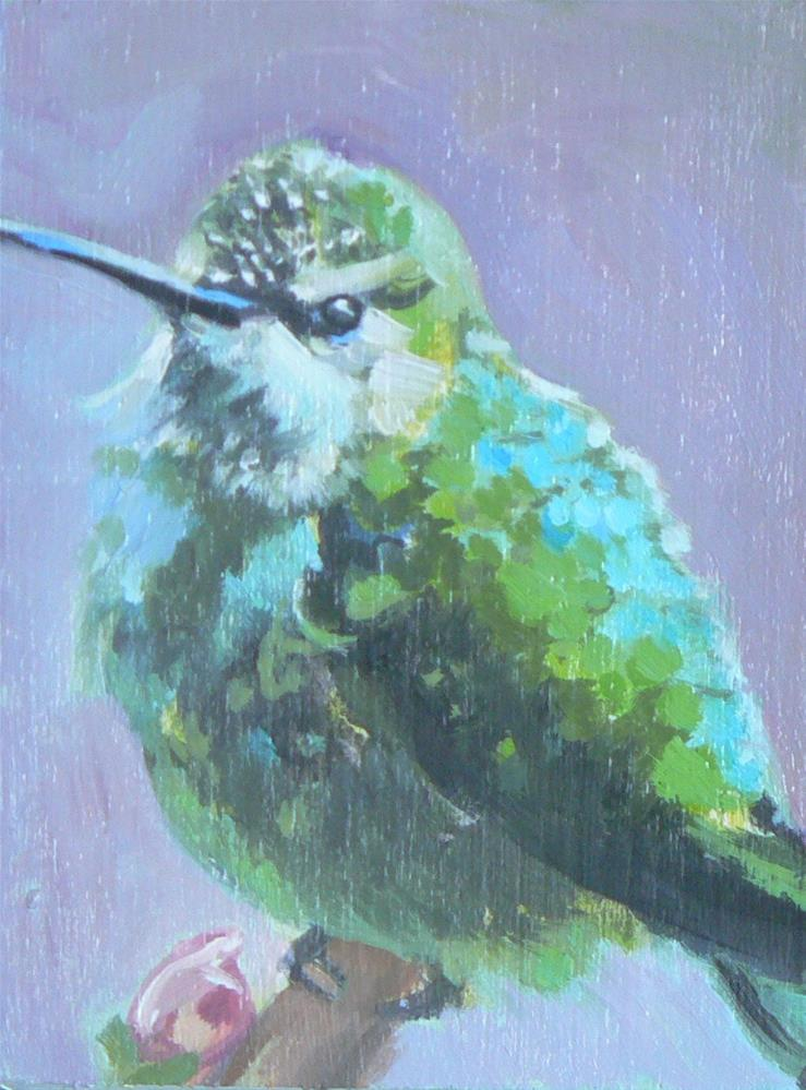 """Hummingbird"" original fine art by Leigh Buchanan"