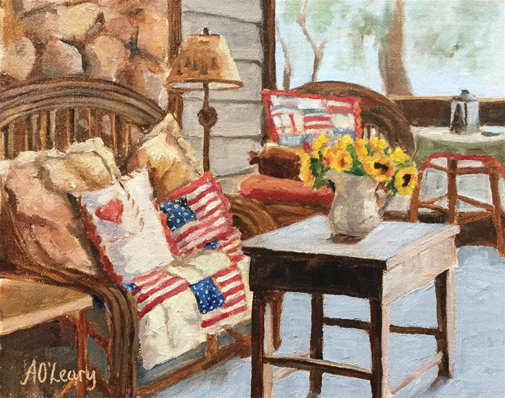 """Sunlit Quilt"" original fine art by Alice O'Leary"
