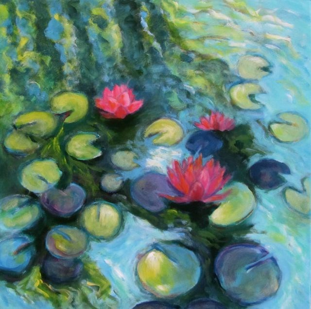 """The Lily Pond"" original fine art by Patricia MacDonald"