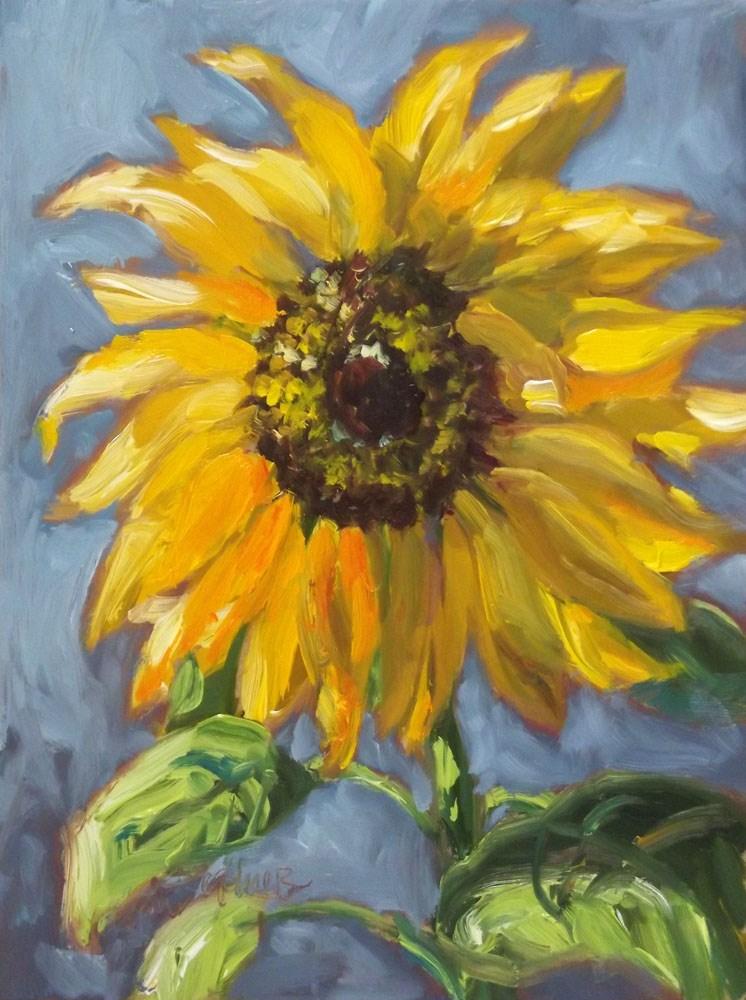 """Gold and Blue Unite"" original fine art by Erin Dertner"