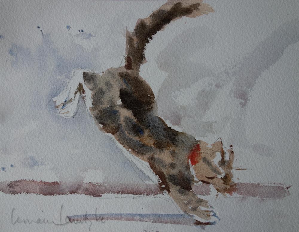 """Leaping 2"" original fine art by Lorraine Lewitzka"