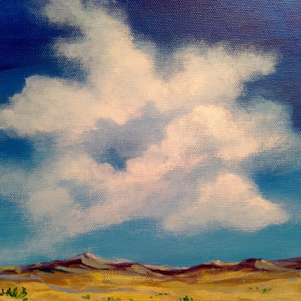 """Clouds over Big Bend"" original fine art by Margie Whittington"