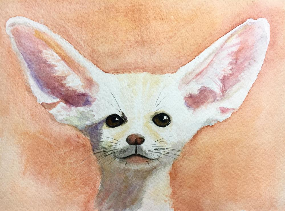 """I'm all ears"" original fine art by Anna Starkova"