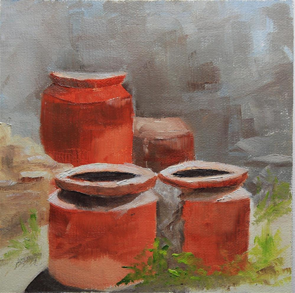 """Moments in Italy - Pompeii"" original fine art by Maria Reed"