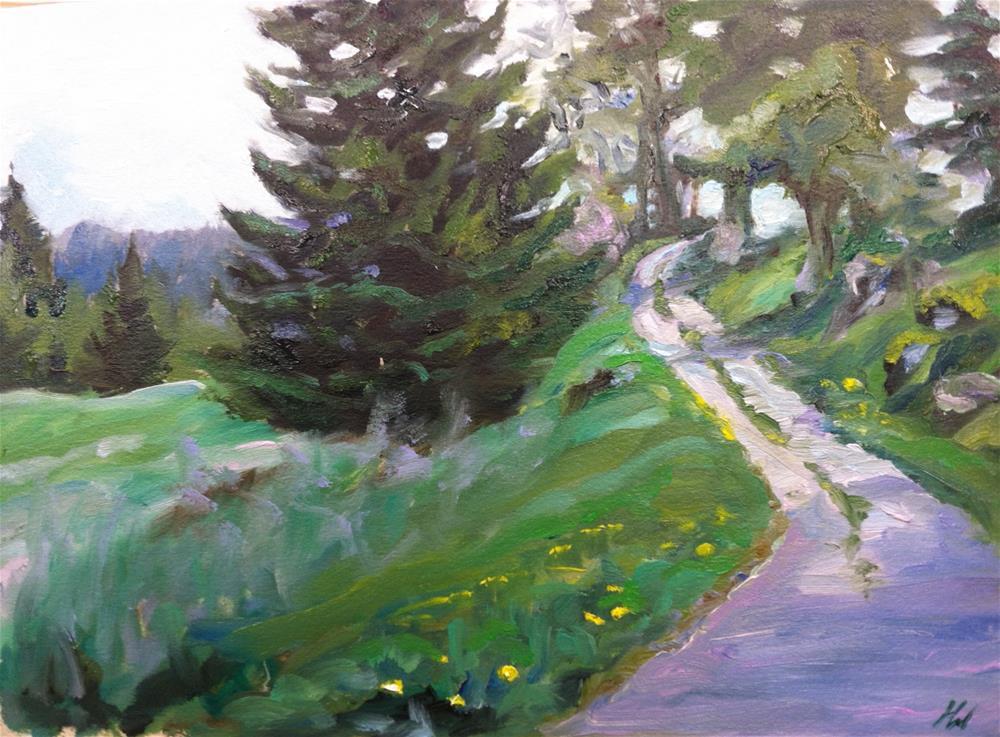 """""""Challenge-Path 062014"""" original fine art by H.F. Wallen"""