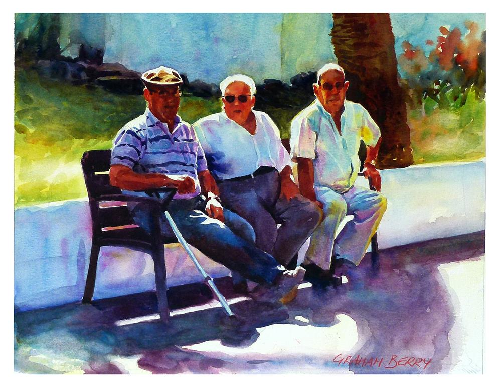 """Three Amigos."" original fine art by Graham Berry"