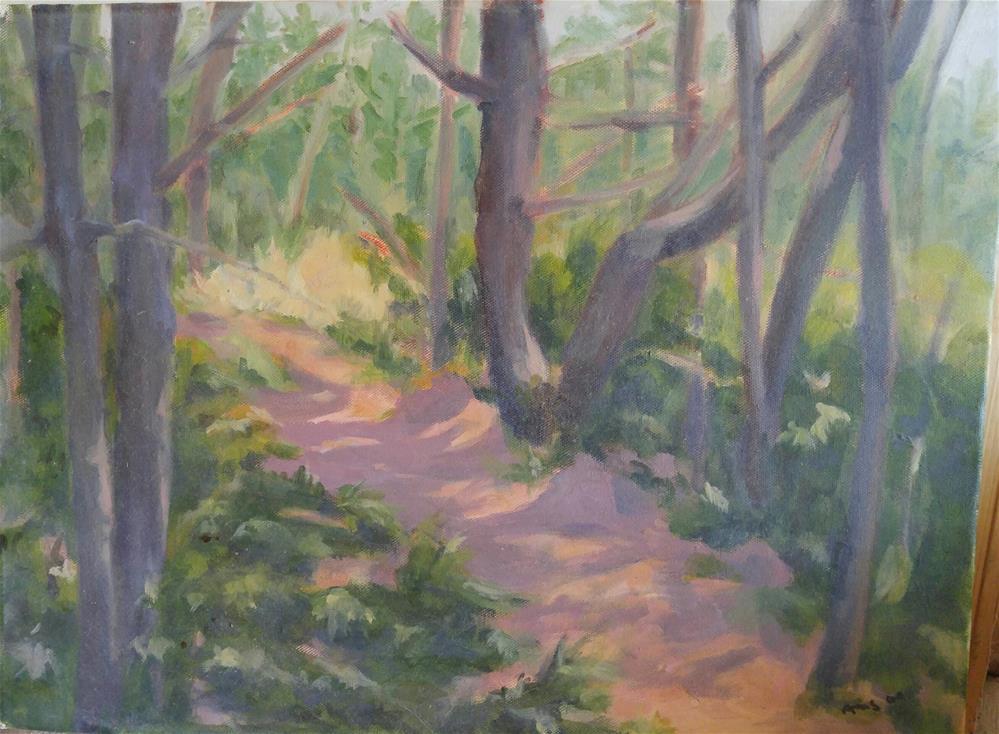 """""""Monhegan Path"""" original fine art by angela scully"""