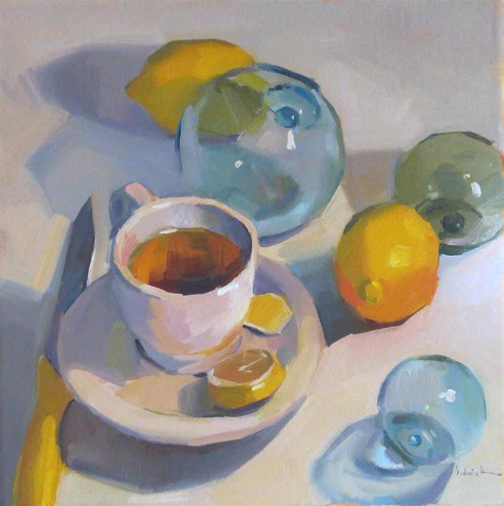 """Summer Tea"" original fine art by Sarah Sedwick"