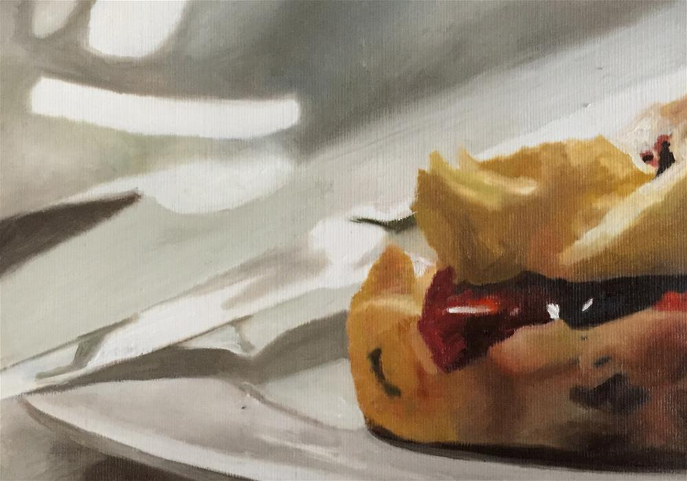 """Jammy Scone"" original fine art by John Cameron"