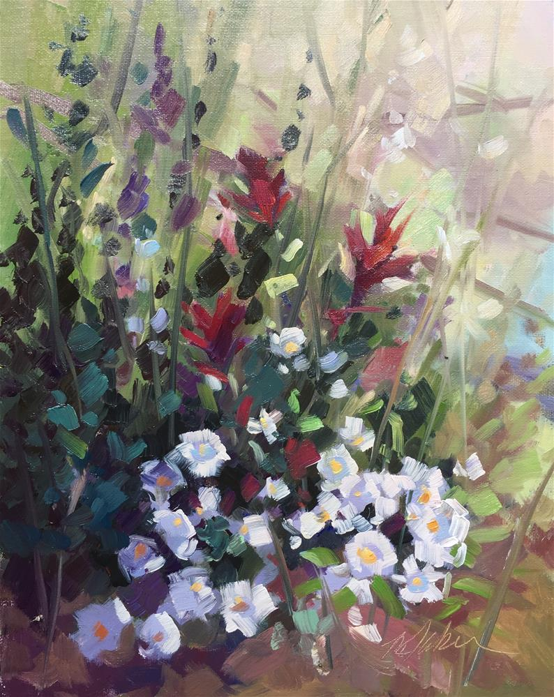 """Spring Time Asters"" original fine art by Mary Jabens"