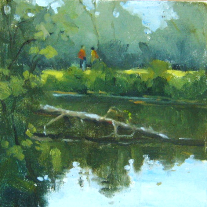 """Fallen Tree, Reedy Park, NC"" original fine art by Connie Snipes"