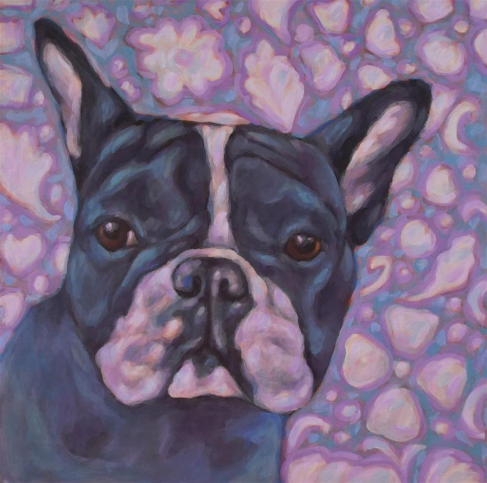 """Boston Terrier"" original fine art by Kathy Hiserman"