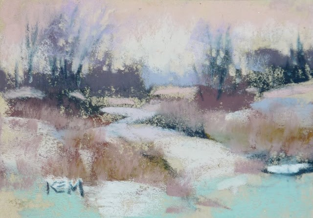 """Mini Week...Tips for Winter Mini Pastels"" original fine art by Karen Margulis"