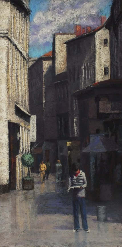 """Avignon"" original fine art by Linee Baird"