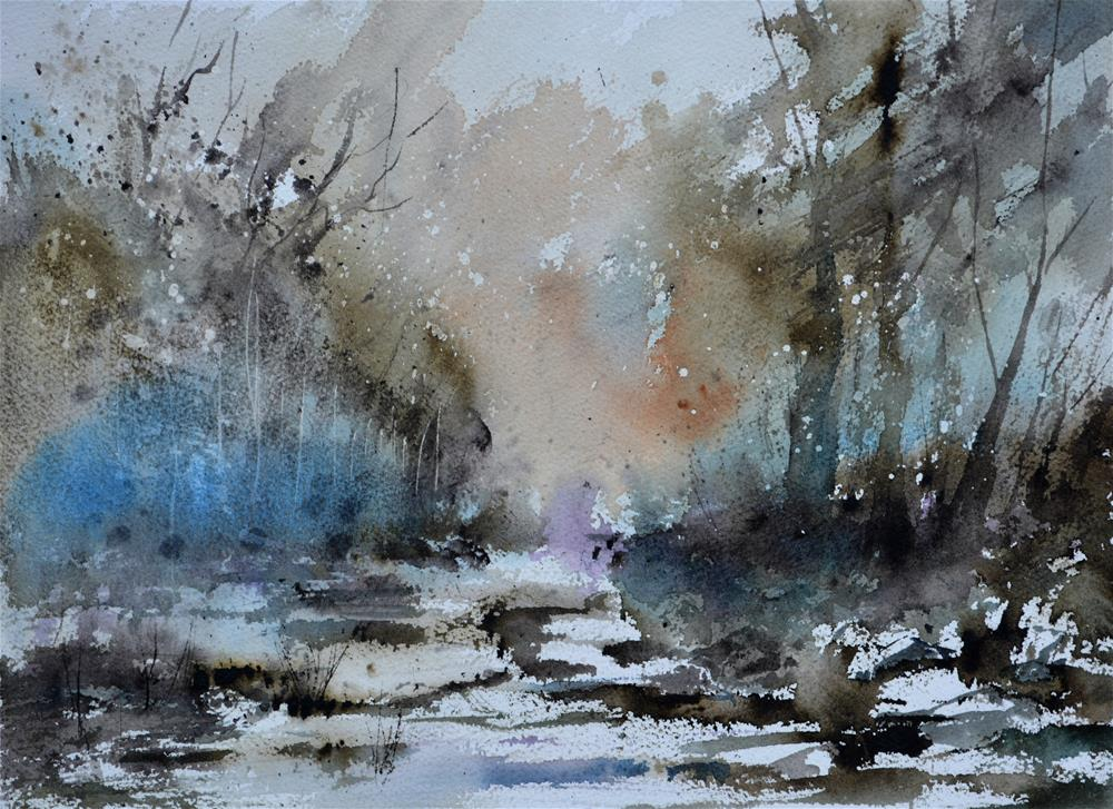 """watercolor 615092"" original fine art by Pol Ledent"