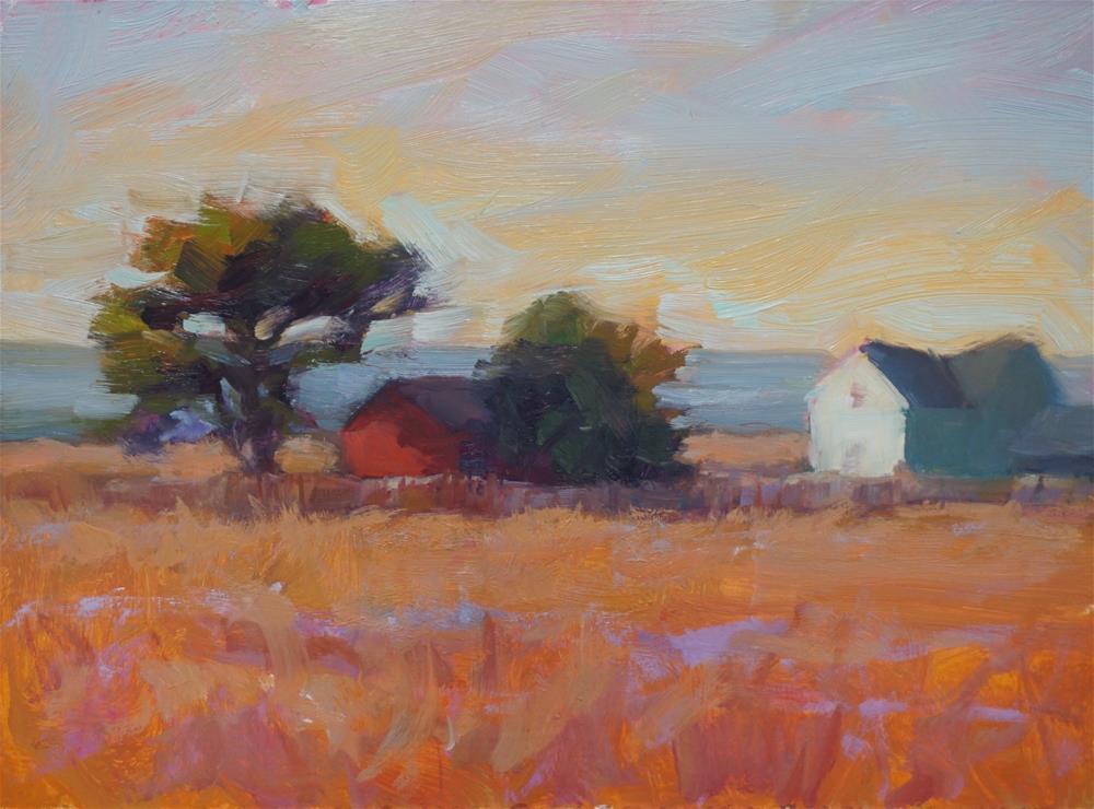 """Mendocino View"" original fine art by Carol Myer"