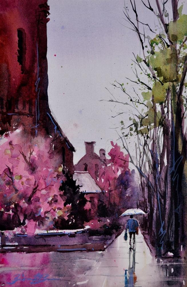 """Spring Showers"" original fine art by Brienne M Brown"