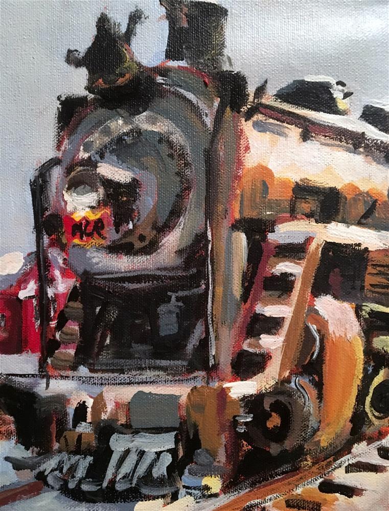 """Memphis Charleston Railroad"" original fine art by Susan Elizabeth Jones"