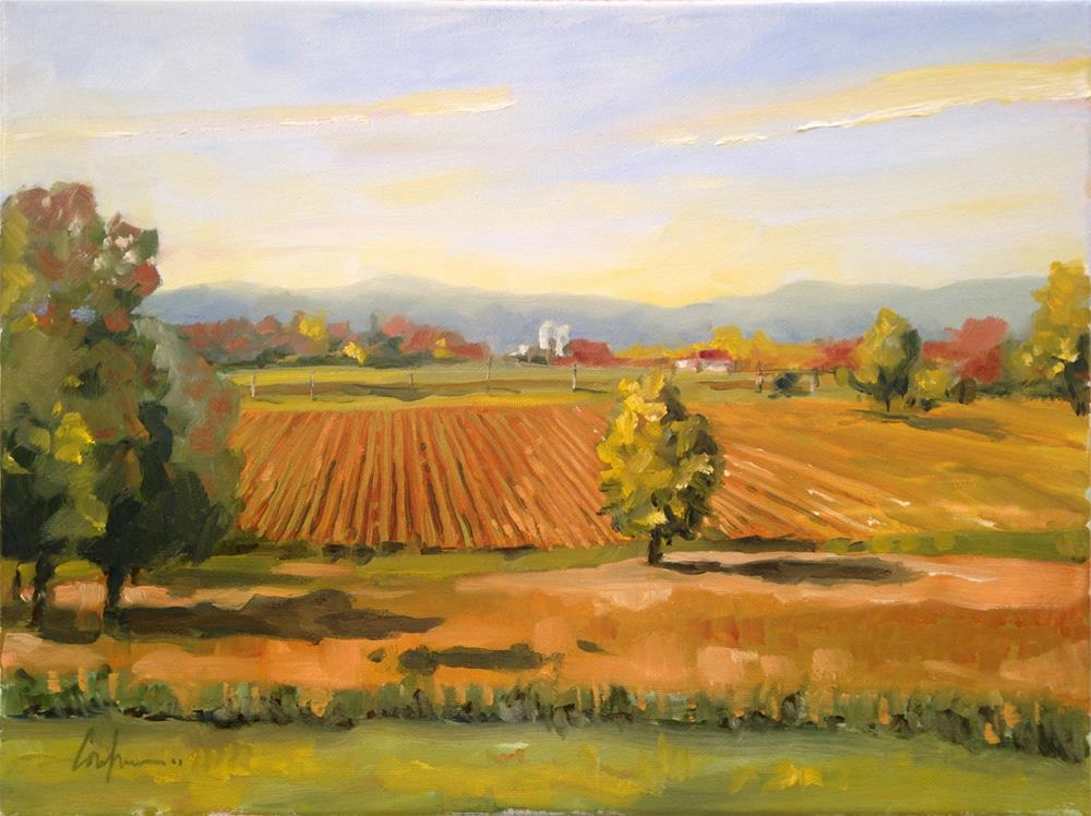 """Autumn along M12"" original fine art by Cornelis vanSpronsen"