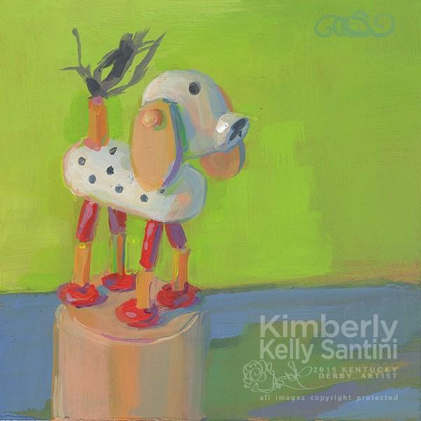"""Push Puppet, Toy #13"" original fine art by Kimberly Santini"