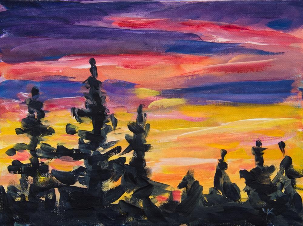 """Sunset study #1, Alaska"" original fine art by Yulia Kazansky"