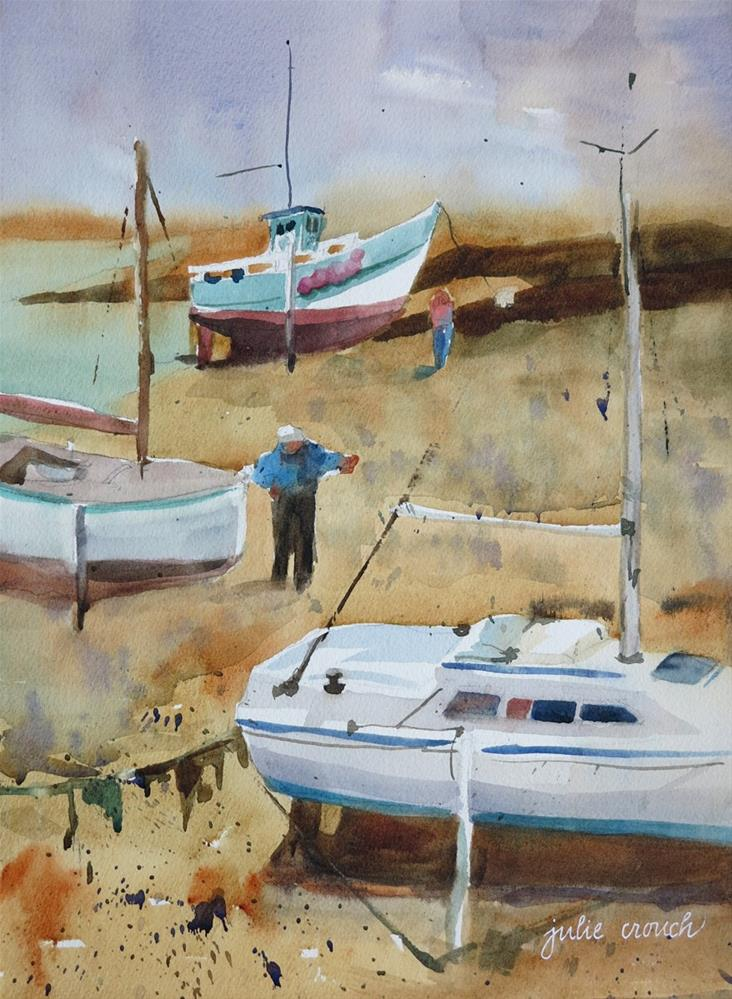 """Ploumanach Harbor"" original fine art by Julie Crouch"
