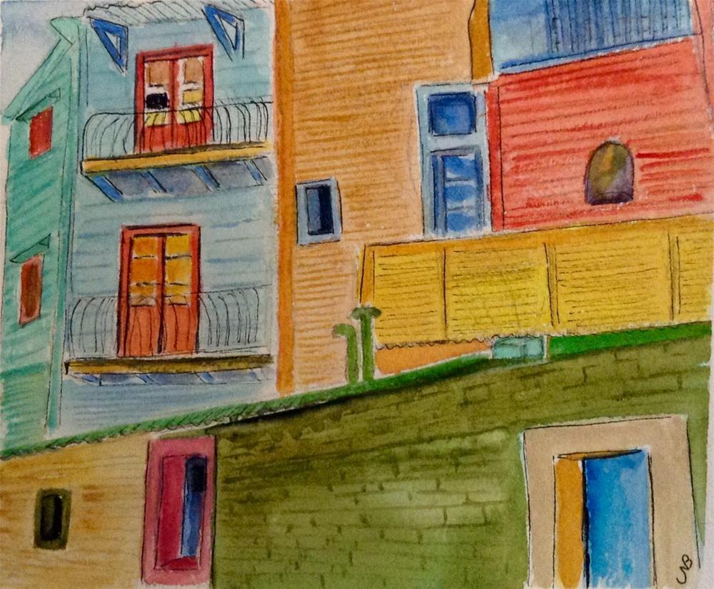 """Buenos Aires  6 X 9"" original fine art by Nancy Beard"