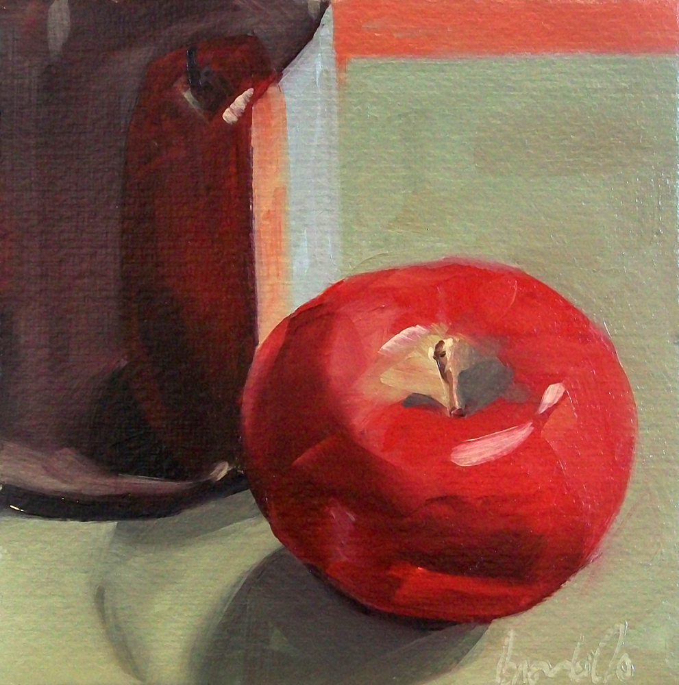 """wino apple"" original fine art by Brandi Bowman"