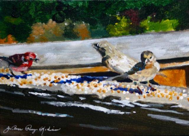 """The Breakfast Club"" original fine art by JoAnne Perez Robinson"