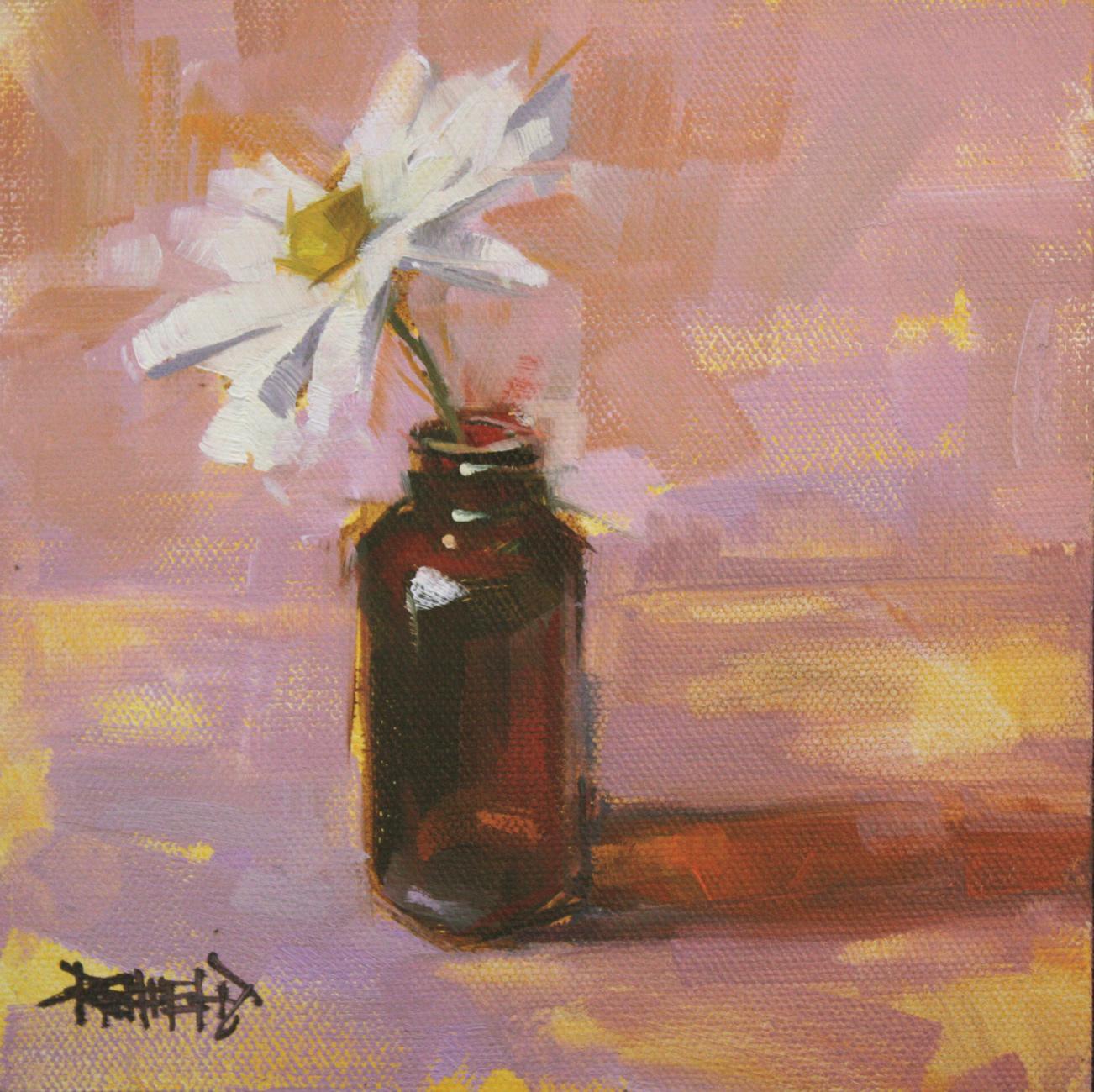 """Vanilla Bottle Flower Sketch"" original fine art by Cathleen Rehfeld"