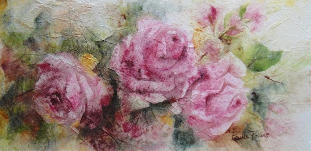 """Tapestry Roses"" original fine art by Paulie Rollins"
