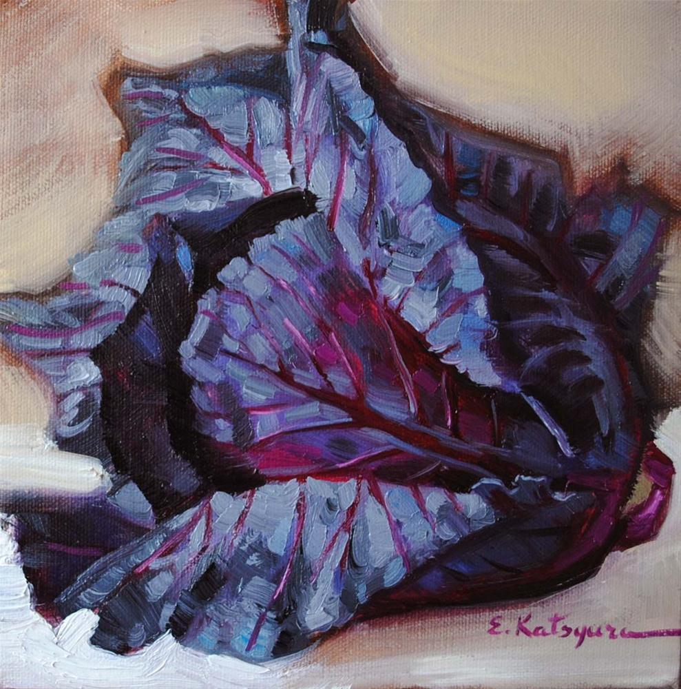 """Red Cabbage"" original fine art by Elena Katsyura"
