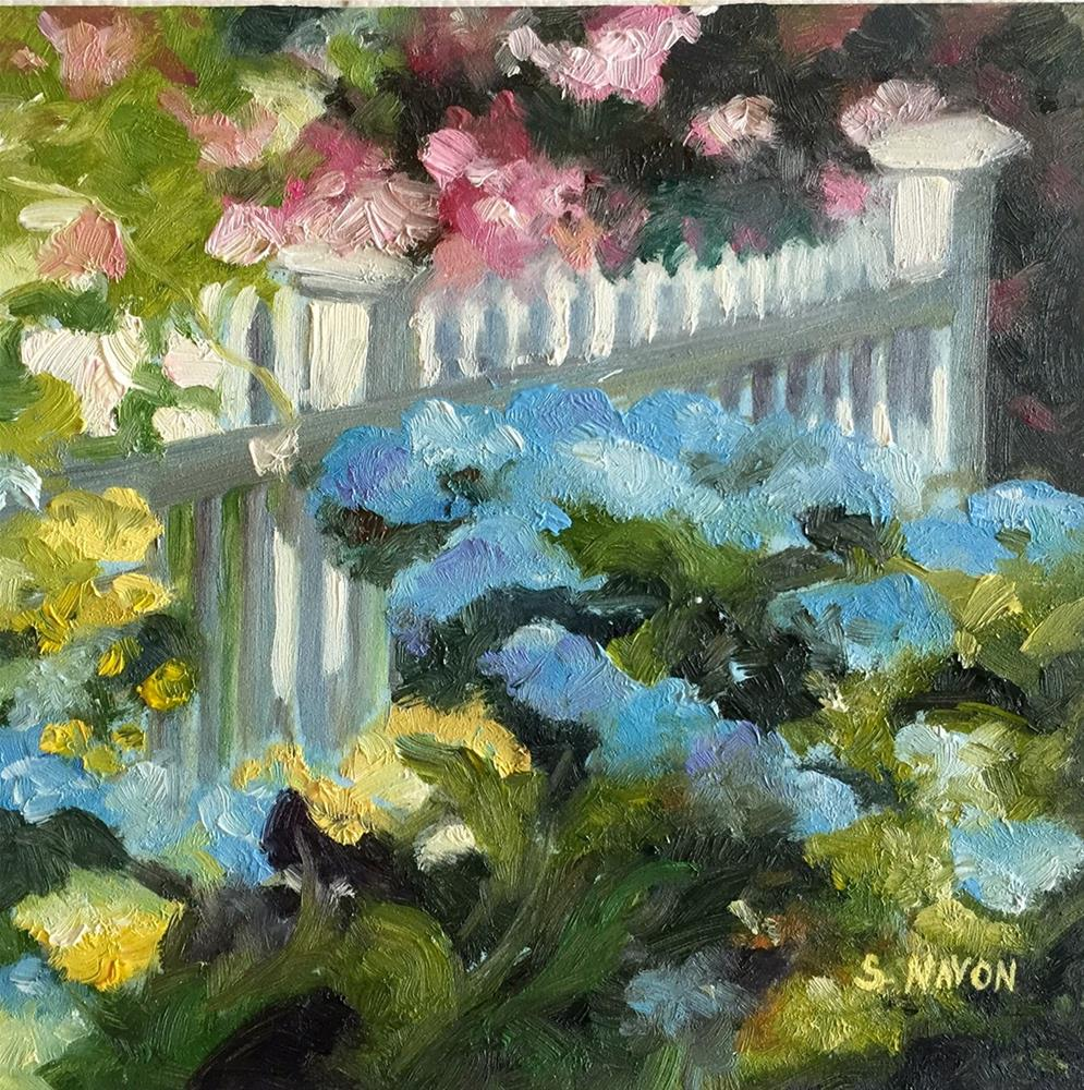 """Spring stroll"" original fine art by Stephanie Navon Jacobson"