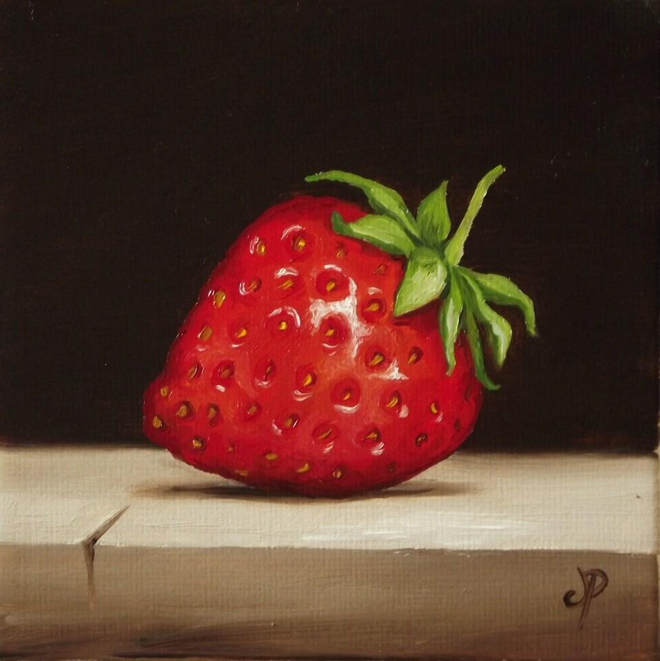 """Little Strawberry"" original fine art by Jane Palmer"