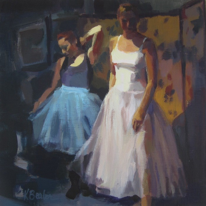 """Studio Models"" original fine art by Kaethe Bealer"