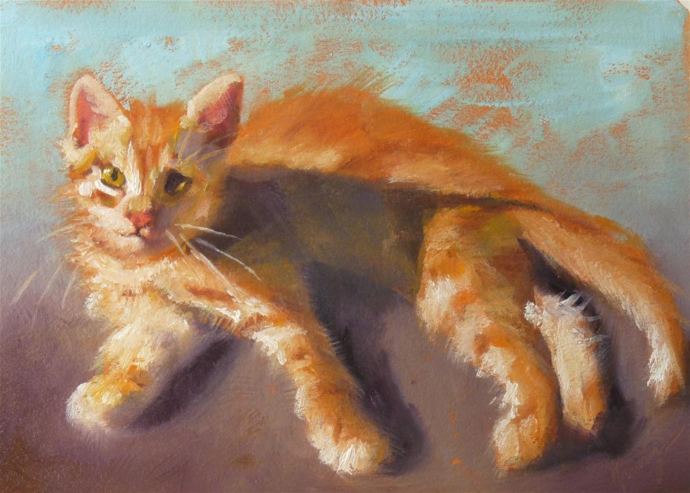 """""""Fuzzy Was He?"""" original fine art by Sharman Owings"""