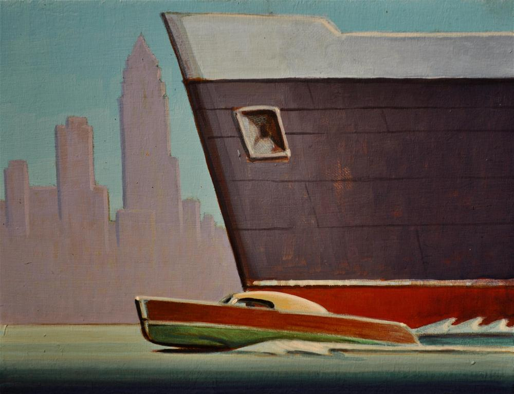"""Commuter"" original fine art by Robert LaDuke"