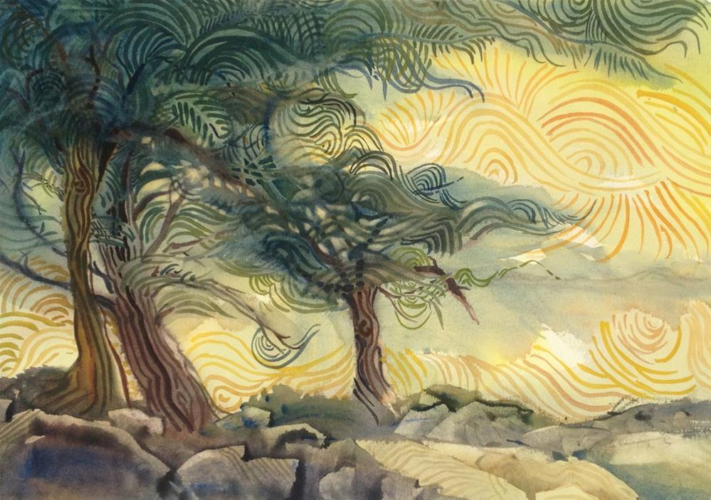 """""""Monterey Cypress"""" original fine art by Julie Crouch"""