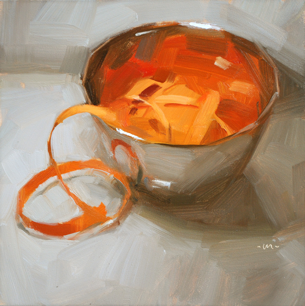 """Bowl of Ribbon"" original fine art by Carol Marine"