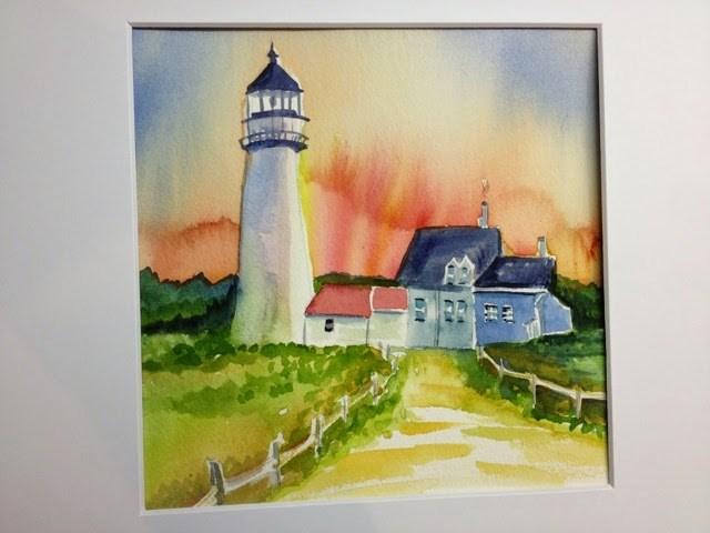 """Vacation Light House"" original fine art by Lisa Fazio"