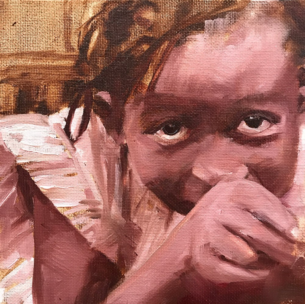 """Little Girl for Sam"" original fine art by Donna Dumont"