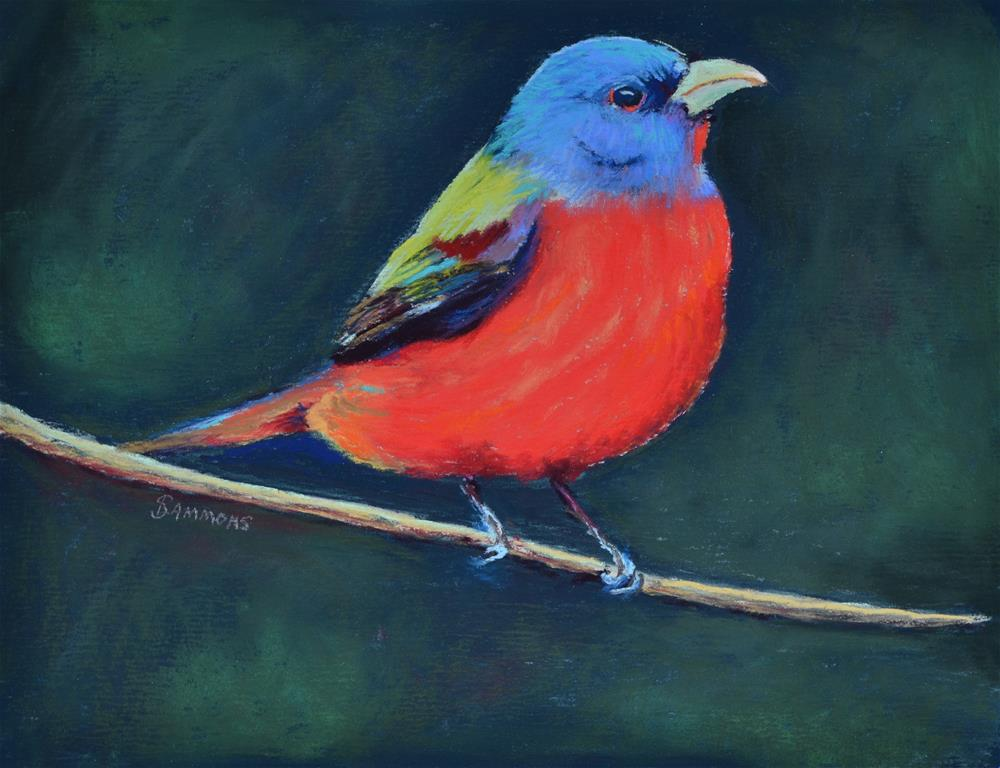 """""""Painted Bunting"""" original fine art by Laurie Sammons"""