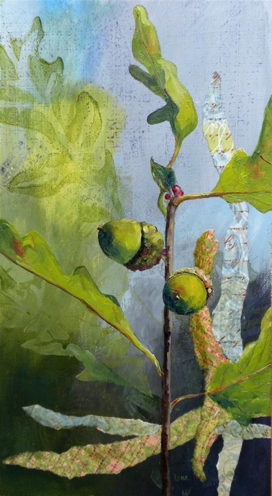 """Acorn Duo"" original fine art by Saundra Lane Galloway"