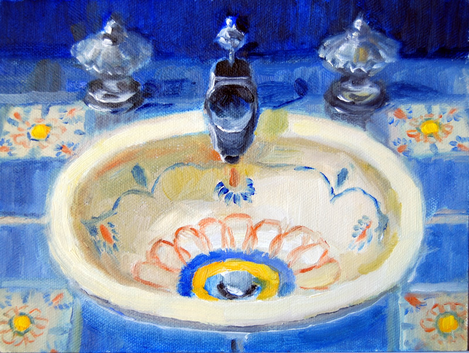 """Santa Fe Sink"" original fine art by Julie Ford Oliver"