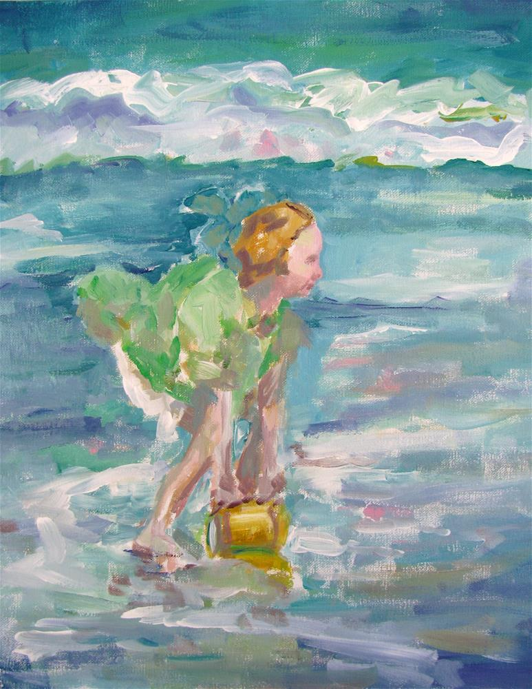 """Study of Potthast's Girl in Green Dress"" original fine art by Susan Elizabeth Jones"