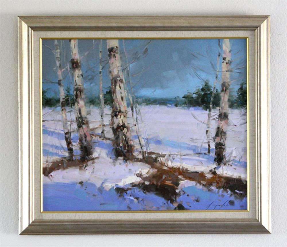 """WINTER ORIGINAL OIL PAINTING IMPRESSIONISM FRAMED GALLERY QUALITY"" original fine art by V Yeremyan"